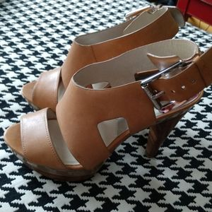 Michael Kors Kara Tan Leather Sandals